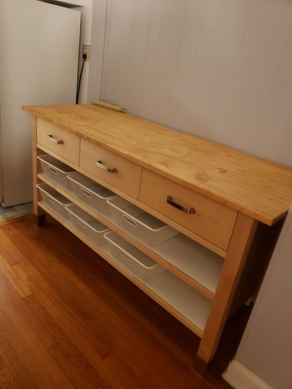 Ikea Free Standing Island...can function as a storage credenza