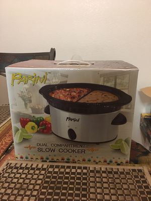 Parini dual compartment slow cooker for Sale in Riverside, CA