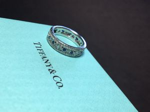 Tiffany Legacy Collection Jazz Blue Sapphire & Diamond band ring for Sale in Nashville, TN