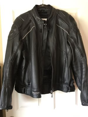 TRIUMPH motorcycle leather jacket NEW!!! for Sale in Los Angeles, CA
