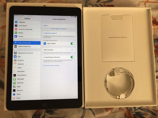IPad 6th Generation Unlocked Like New