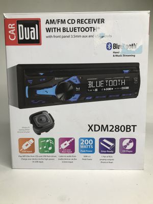 Dual Electronics XDM280BT Multimedia Detachable 3.7 inch LCD Single DIN Car Stereo with Built-In Bluetooth, CD, USB, MP3 & WMA Player for Sale in Orlando, FL