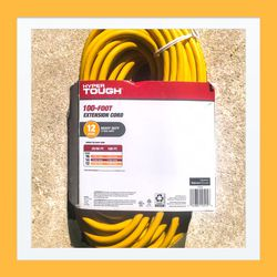 Hyper Tough 12/3 Heavy Duty 100-foot 100' Extension Chord. Brand New!! for Sale in Modesto,  CA