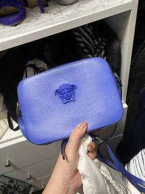 Blue Lether Versace should bag for Sale in Costa Mesa, CA