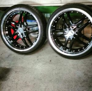 "22"" Forte Rims. 3 center caps. $500 for Sale in Cleveland, OH"