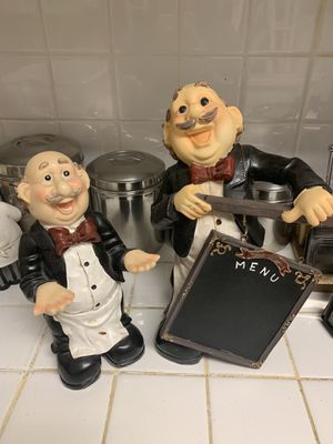 Collectible Chef Mario Italian Bistro Restaurant Themed Statue (kitchen, dining centerpiece decor) for Sale in Sacramento, CA