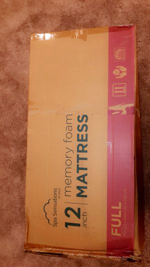 Spa Sensations by Zinus / Full Memory Foam Mattress for Sale in Tracy, CA