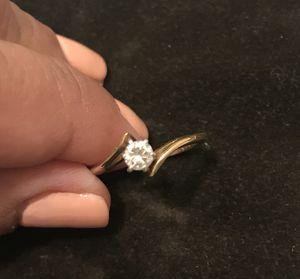 14k gold diamond ring , quarter carat size 6 1/2 for Sale in Whittier, CA