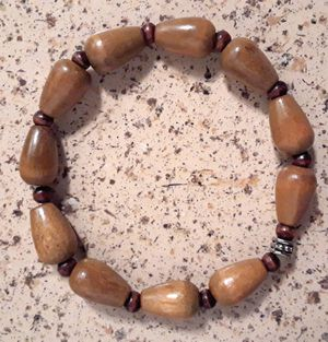 African Wood Bead Bracelet Unisex for Sale in Riverview, FL