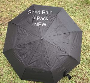 2 Pack Shed Rain Auto open/close Umbrellas NEW for Sale in St. Petersburg, FL