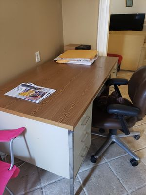 Heavy duty metal and wood desk for Sale in Salinas, CA