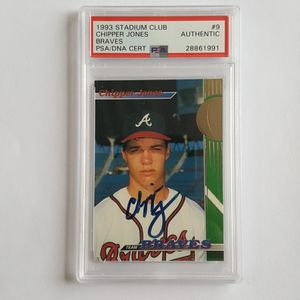 Chipper Jones 1993 Stadium Club Autographed Rookie Card for Sale in Marietta, GA