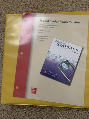 Elementary statistics 2nd edition with access code for Sale in Sacramento, CA