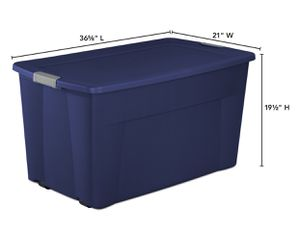 Sterilite 45 Gal. Wheeled Latch Tote Stadium Blue for Sale in Washington, DC
