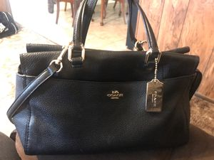 Coach leather black purse for Sale in Modesto, CA