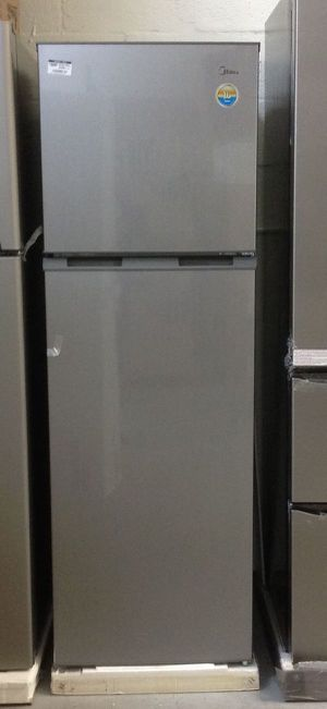 Midea 9.0 Refrigerator Grey 2 Doors Freezer Slim Apartment Refrigerador Nevera Frío Dos Puertas Congelador Arriba Delgada MRTN09G2BG for Sale in Virginia Gardens, FL