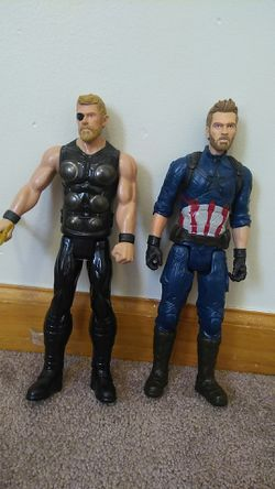 Captain America and Thor dolls for Sale in Norwich,  CT