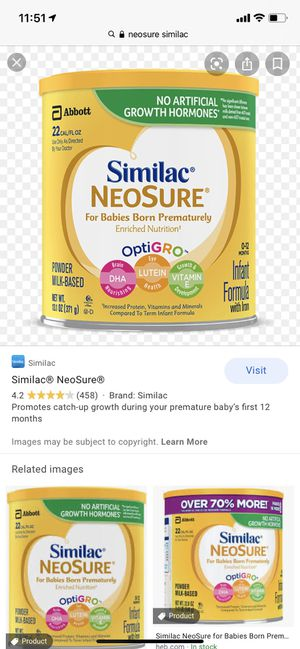 neosure similac formula for Sale in Garland, TX