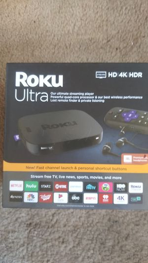 Roku Ultra and Google Chromecast Ultra brand new inbox for Sale in Spring Valley, CA