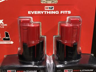 Milwaukee M12 3.0Ah Battery 2 Pack for Sale in Haverhill,  MA