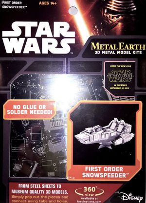 New Disney store Starwars Metal Earth 3D Metal Model kit, First order snow speeder for ages 14+ for Sale in Pinellas Park, FL