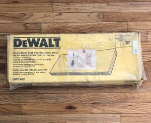 Dewalt Cast Iron Extension Wing for Sale in St. Louis, MO