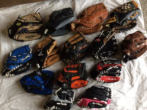 Baseball/Softball Mitts for Sale in Covington, WA