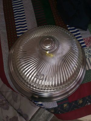 Light fixture for ceiling silver chrome color rims for Sale in Winter Haven, FL