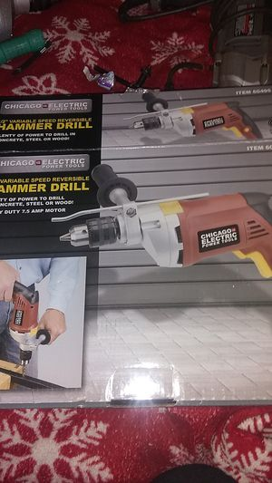 """Chicago Electric 1/2"""" variable speed hammer drill for Sale in Arvada, CO"""