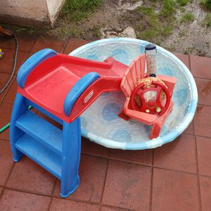 Kids Pool, Slide, Chair and a Toy for Sale in Monrovia, CA