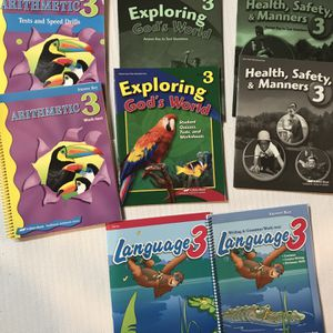 Lot Of 8 A Beka Answer Key Books- 3rd Grade - Homeschool Math, Language , Science , Health for Sale in Pickens, SC