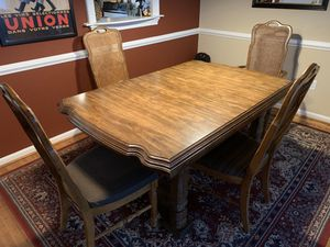 Vintage Formal Dining Room Table and 6 Chairs for Sale in Leesburg, VA