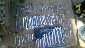 Both sets standard and Metric combination wrench set as well as numerous add-ons there is a lot of wrenches as you can see by the photo for Sale in Denver, CO