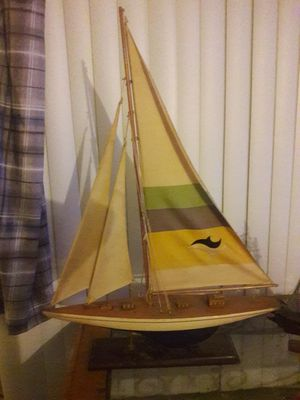 wooden model sailboat..real sails.. for Sale in Westminster, CO