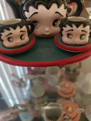 Betty boop mini tea sets cups sauce and pot. Very rare for Sale in HUNTINGTN BCH, CA