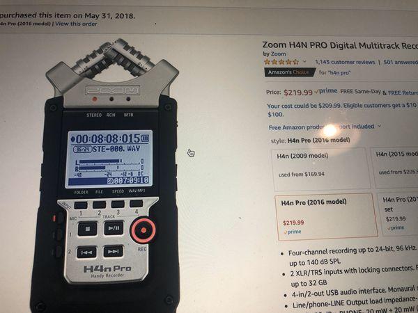 H4n Pro Portable Digital Audio Recorder