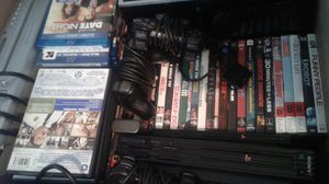 Movies, 3 play stations, vcr/DVD player, for Sale in undefined