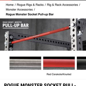 Rogue Socket Monster Pull Up Bar for Sale in Fair Oaks, CA