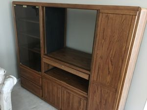 Solid Oak Wood TV Cabinet for Sale in North Potomac, MD