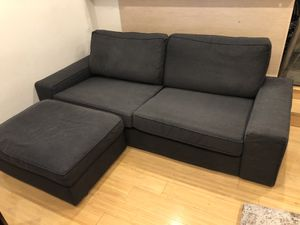 Sofa with Storage Ottoman for Sale in Hoboken, NJ