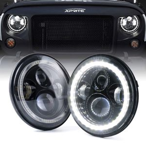"""Xprite 7"""" Inch LED Halo Headlights For Jeep Wrangler JK TJ LJ 1997- 2018(DOT Approved) for Sale in New York, NY"""