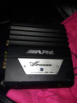 Alpine V-Power MRP-M350 Amplifier for Sale in Olympia, WA
