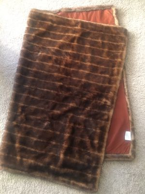 Beautiful brown faux fur blanket / throw for Sale in San Diego, CA