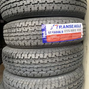 New Set of St 175-80-13 Trailer Tires For Sale for Sale in Modesto, CA
