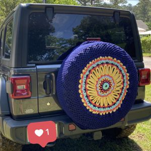 Crochet Jeep Wheel Cover for Sale in Raleigh, NC