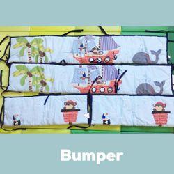 Bedtime Originals 4 Piece Bumper, Treasure Island for Sale in Fontana,  CA
