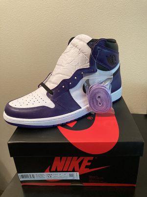 Jordan 1 court purple size 13 for Sale in Puyallup, WA