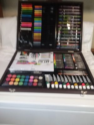 Nice wooden art kit with most supplies. for Sale in Terre Haute, IN
