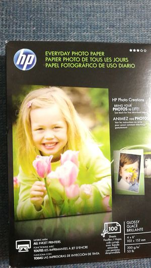 Hp everyday photo paper for Sale in Peoria, IL
