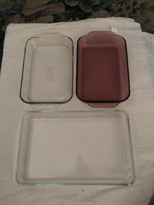 Pyrex Glass Baking Dishes X 3 for Sale in Commerce City, CO
